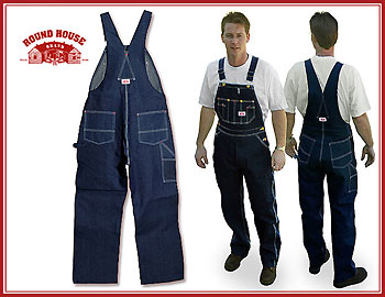 19f922a1b1 966 is the Round House Classic Blue Denim Bib Overall. This bib overall has  one of the largest size ranges made. This bib features waist sizes starting  at ...