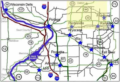 Amish Wisconsin Map.Amish Tour At Columbia County Tourism Com Official Online Tourism