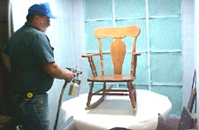 how to create a art piece with different wood stains