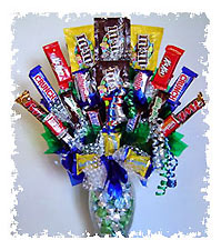 Chocolate Flower Arrangements on Mn  Iowa  Ia  Indiana  In  Michigan  Mi  Missouri  Mo  Candy  Flowers